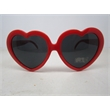 Flaming Red Heart Shaped Sunglasses - Adult Size - Heart shaped sunglasses