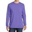 Port & Company Pigment-Dyed Long Sleeve Pocket Tee - 5.5 oz. pigment-dyed long-sleeve pocket t-shirt made from 100% ring-spun cotton, available in many colors