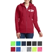 Port & Company Ladies Core Fleece Full-Zip Hooded Sweatshirt - Women's full-zip hooded sweatshirt (7.8 oz.) made from 50/50 cotton/polyester fleece blend with jersey-lined hood