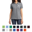Port & Company Ladies Core Blend Piqu Polo - Ladies pique polo with soil-release finish, 4-button placket with matching buttons, and double-needle hem.