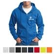 Port & Company Essential Fleece Full-Zip Hooded Sweatshirt - 9 oz. full-zip hooded sweatshirt made from 50/50 cotton/polyester fleece blend with YKK zipper