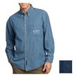 Port & Company Long Sleeve Value Denim Shirt - 6.5 oz. long-sleeve, button-down denim shirt, made from 100% cotton with left chest pocket