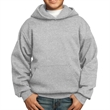 Port & Company Youth Core Fleece Pullover Hooded Sweatshirt - 7.8 oz. youth hooded sweatshirt, made from a 50/50 blend of cotton/polyester fleece, no drawcord at the hood