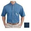 Port & Company Short Sleeve Value Denim Shirt - 6.5 oz. short-sleeve, button-down denim shirt, made from 100% cotton