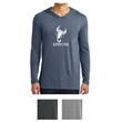 District Made Men's Perfect Tri Long Sleeve Hoodie - Men's tri-blend hoodie available in multiple colors with a tear away tag.