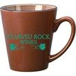 12 oz. Speckled Funnel Mug with Colored Trim - 12 oz. Speckled Funnel Mug with Colored Trim