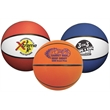 """Mini Rubber Basketball - Mini rubber basketball, 7"""" features a re-inflatable athletic valve."""