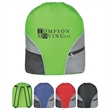 Drawstring Backpack - Drawstring backpack made of 210 denier polyester with 2 outside pockets.