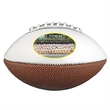 Full Size Synthetic Leather Signature Football - Full size synthetic leather signature football with white, autograph panels.