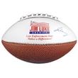 Mini Synthetic Leather Signature Football - Mini synthetic leather signature football with white autograph panels.