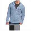 District Young Men's Jersey Full-Zip Hoodie - Full-zip hoodie made of 4.4 oz. 60/40 cotton/polyester, 30 singles, with rib knit cuffs and hem.