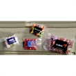 Small Heat Sealed Bag with Candy Fill - Small heat sealed bag with choice of gummy bears, fruit sours, or salt water taffy fills.