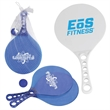 Malibu Paddle Ball Set - Plastic paddle and ball set available in clear blue and opaque white.