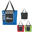 """Roundabout Tote Bag - Roundabout Tote Bag.  Made of Combo:  600 Denier Polyester and Jacquard.  Large Front Pocket.  Mesh Front Pocket.  23"""" Handles."""