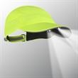 Hi-Vis 4 LED Runner's Cap - Hi-Vis runner's cap with 4 LEDs. Blank.