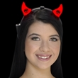 Light Up Red Devil Horns