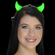 Light Up Green Devil Horns
