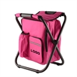 Folding Cooler Backpack Chair - Promotional Custom Logo Imprinted Folding Cooler Chair