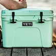 Seafoam YETI Tundra 35 Cooler - This AUTHENTIC YETI Tundra 35 is a portable and durable cooler that is great for a small excursion.