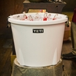 Large White YETI Ice Bucket - This AUTHENTIC YETI white ice bucket is a large ice bucket great for any excursion or occasion.