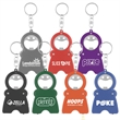 Handy Man Keychain/Opener - Keychain with bottle opener, LED flashlight and 3' measuring tape