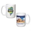 15 oz. Giant White Ceramic Mug w/Full Color Sublimation