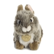 """7"""" Baby Bunny Grey - This is a soft 7"""" grey baby bunny."""