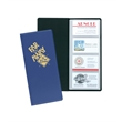 """Business Card Holder - 96 - Vinyl business card holder measuring 10"""" x 4-1/2"""" closed with 96 card slots."""