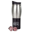 """Hot Cocoa Cube Tumbler - 8 1/2""""H x 3""""D (at widest) tumbler with hot cocoa"""