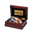 Small Wood Box with 6 Assorted Lindt (R) Chocolates
