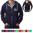 Independent Trading Company Unisex Zip Hooded Sweatshirt - Unisex full zip hooded sweatshirt with split front pouch pockets and white braided drawcords.