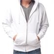 Independent Trading Company Men's Independent Heavyweight... - Cotton/polyester heavyweight zip hooded sweatshirt for men with double-needle split-stitched sewing on all seams.