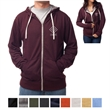 Independent Trading Company Unisex Heather French Terry Z... - Slim fit unisex heather full-zip hoodie with antique-nickel tipped drawcord, exposed zipper tape, and eyelets.