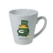 12 oz. Full Color Process White Ceramic Funnel Mug - 12 oz. Full Color Process White Ceramic Funnel Mug