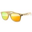 Metallic Retro Sunglasses - 1 Temple Imprint + UV400 Mirror Lenses