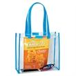 "Custom Clear EVA Stadium Bag 12""x 12""x 4"" - Multipurpose 13"" x 12"" clear EVA bag with hook & loop closure"