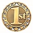 "2 1/2"" 1st Place Star Medallion"