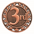 "2 1/2"" 3rd Place Star Medallion"