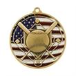 """2 3/4"""" Baseball Patriotic Medallion -"""