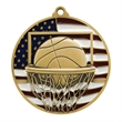 "2 3/4"" Basketball Patriotic Medallion"