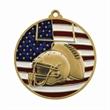 """2 3/4"""" Football Patriotic Medallion -"""