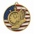 "2 3/4"" Track Patriotic Medallion -"