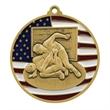 "2 3/4"" Wrestling Patriotic Medallion -"
