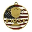 """2 3/4"""" 1st Place Patriotic Medallion -"""
