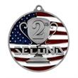 "2 3/4"" 2nd Place Patriotic Medallion -"