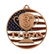 "2 3/4"" 3rd Place Patriotic Medallion -"