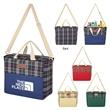 Tartan Hefty Kooler Tote Bag - Insulated cooler tote bag made from 600-denier polyester