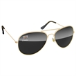 Metal Aviator Sunglasses - UV400 Dark Lenses with 1 Full-color Corner Imprint