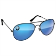 Metal Aviator Sunglasses - UV400 Mirror Lenses with 1 Full-color Corner Imprint