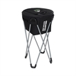 Tailgate Party Cooler - 50-can capacity cooler with sturdy metal frame legs